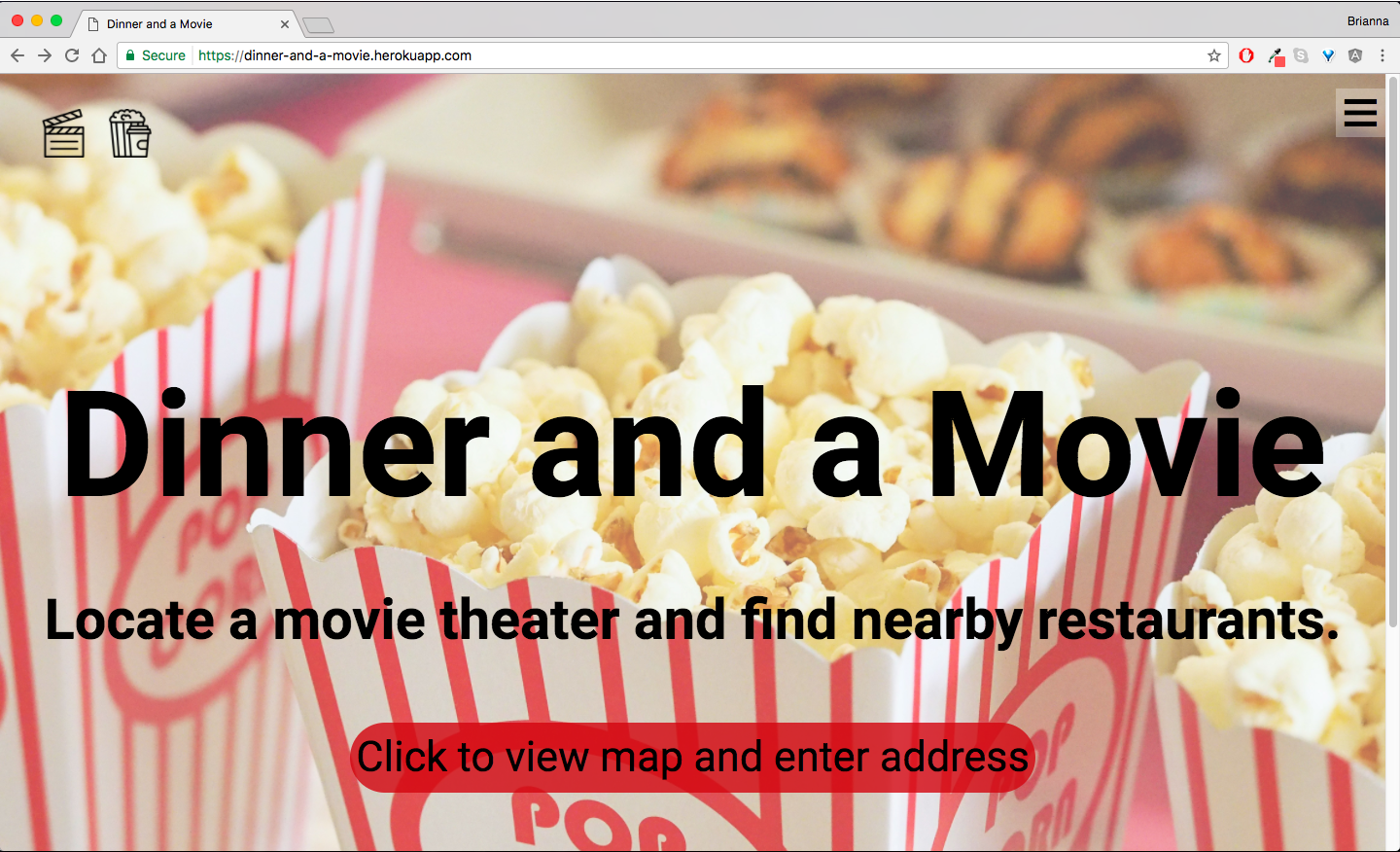 Image of Dinner and a Movie App